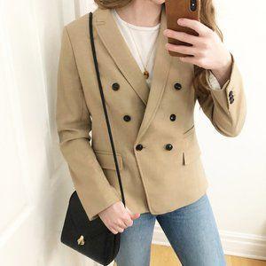 Oversized Boyfriend Double Breasted Blazer Jacket